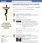 Página de Facebook de la Hermandad de Jesús Condenado de Cáceres