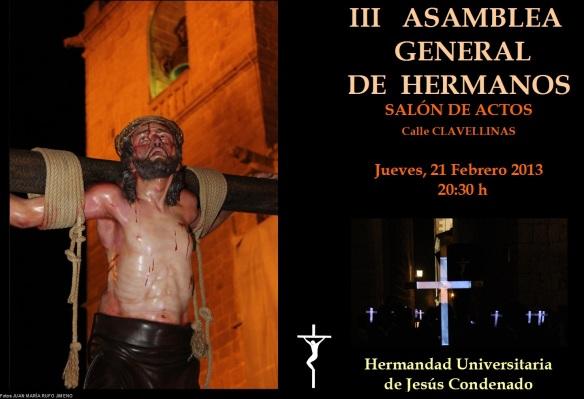 Asamblea General ordinaria de la hermandad de Jesús Condenado