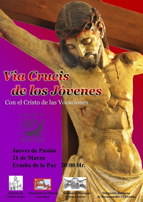 cartel del Via Crucis Jóvenes 2013, con el Cristo de las Vocaciones