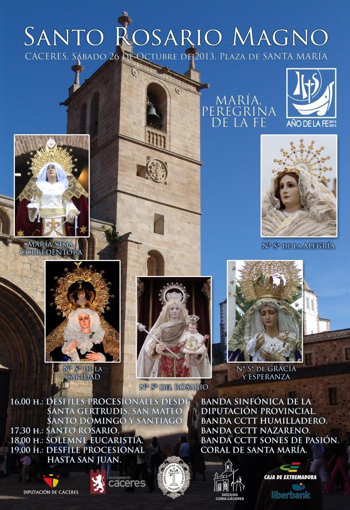 Cartel Cáceres Santo Rosario Magno 2013