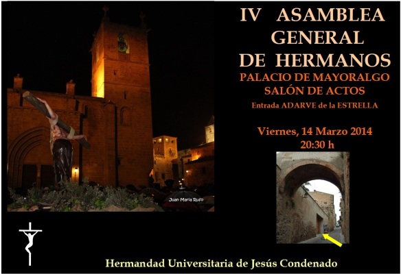 Cartel Asamblea General Hermanos 2014